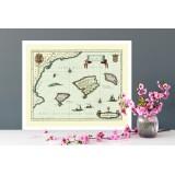 mapa antiguo de mallorca