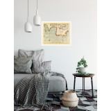 Vintage Nautical Map of Portugal, Spain, France and England