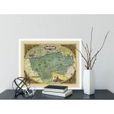 Wandkaart van Vlaanderen