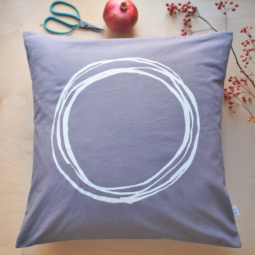 "Pillow Cover  ""The Perfect Circle"""
