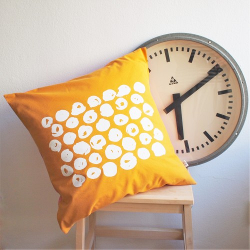 "Yellow Pillow Cover ""Hailstones"""
