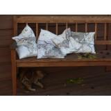 Map Themed Pillows - Set of Six