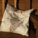 Map Decorated Pads - Set of Six