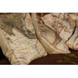 Map Themed Cushions - Set of Six