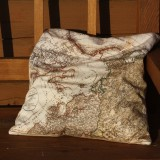 Map Decorated Pillow - Set of Six