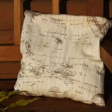 Map Themed Pillow - Set of Six