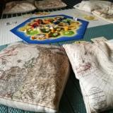 Map Decorated Cushion - Set of Six