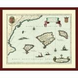 Mapa Viejo Enmarcado de Mallorca