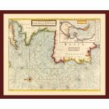 Framed Historical Nautical Map