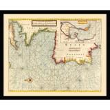 Framed Vintage Nautical Map