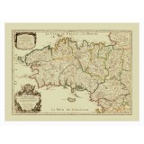 Vintage Map Print of Brittany