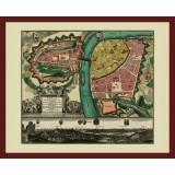 Framed Vintage Map of Prague