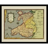Framed Ancient Map of Wales