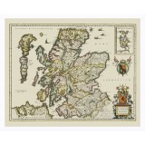 Scotland Framed Vintage Map
