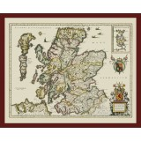 Scotland Framed Antique Map