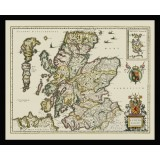Scotland Framed Old Map