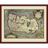 Ireland Framed Antique Map