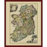 Ancient Map of Ireland in Frame
