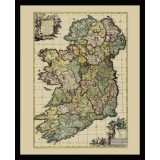 Vintage Map of Ireland in Frame