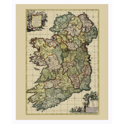 Ireland: Vintage Map Art