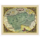 Framed Old Map of Flanders