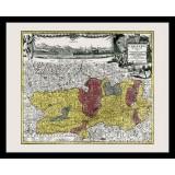 gerahmte historische Karte der Kärnten