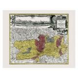 gerahmte vintage Karte der Kärnten