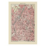 Framed Antique Map of Brussels