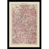 Framed Historical Map of Brussels