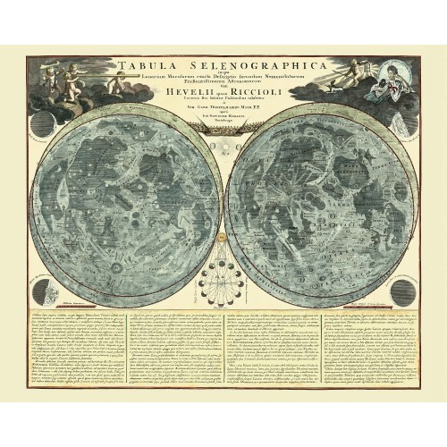 Antique Map of The Moon