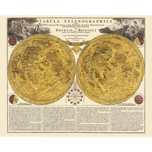 Vintage Karte des Mondes