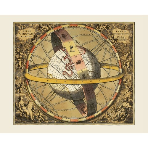 Old Celestial Map Poster