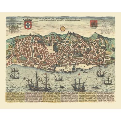 mapa antigo de lisboa