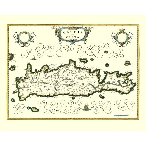 Crete: Antique Map Reproduction