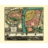 Antique Map of Prague
