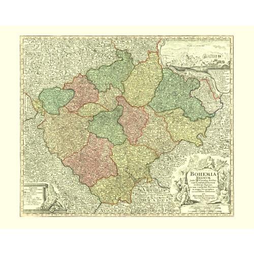 zarámovaná mapa Čech