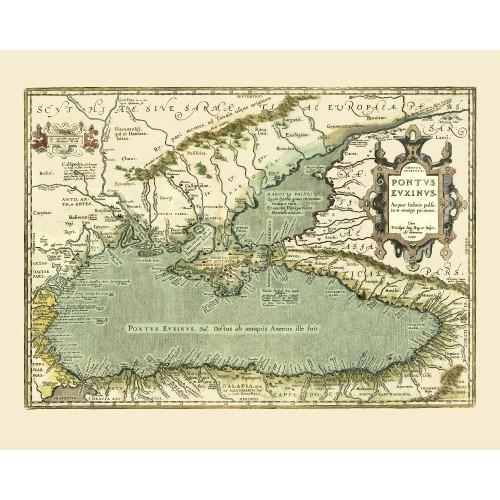 ancienne carte de la mer Noire