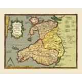 antique wales map
