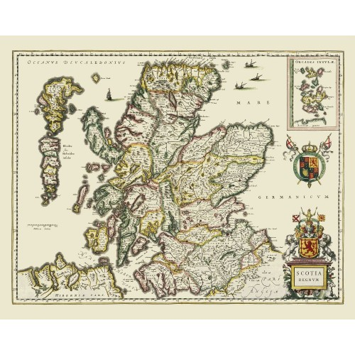 Scotland: Old Map Print