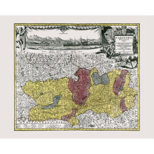 Carinthia: Antique Map Reproduction