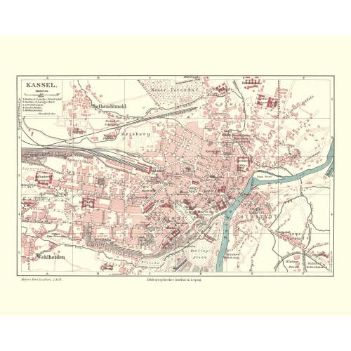 historischer Stadtplan von Kassel