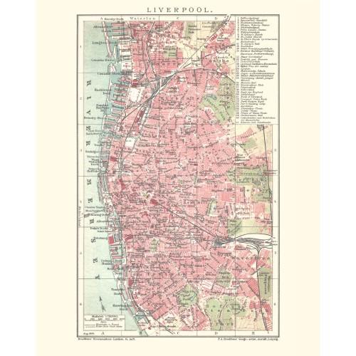 Liverpool: Vintage Map Poster
