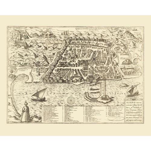 carte antique d'alger