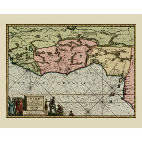 Gulf of Guinea Vintage Map