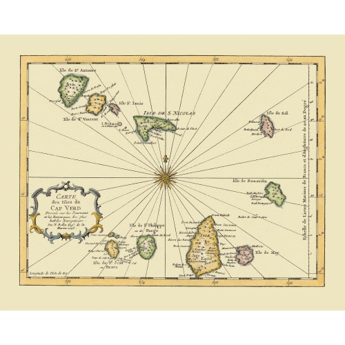 Cape Verde: Old Map Poster