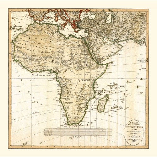 Africa: Antique Map Reproduction