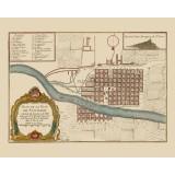 mapa antiguo de santiago de chile