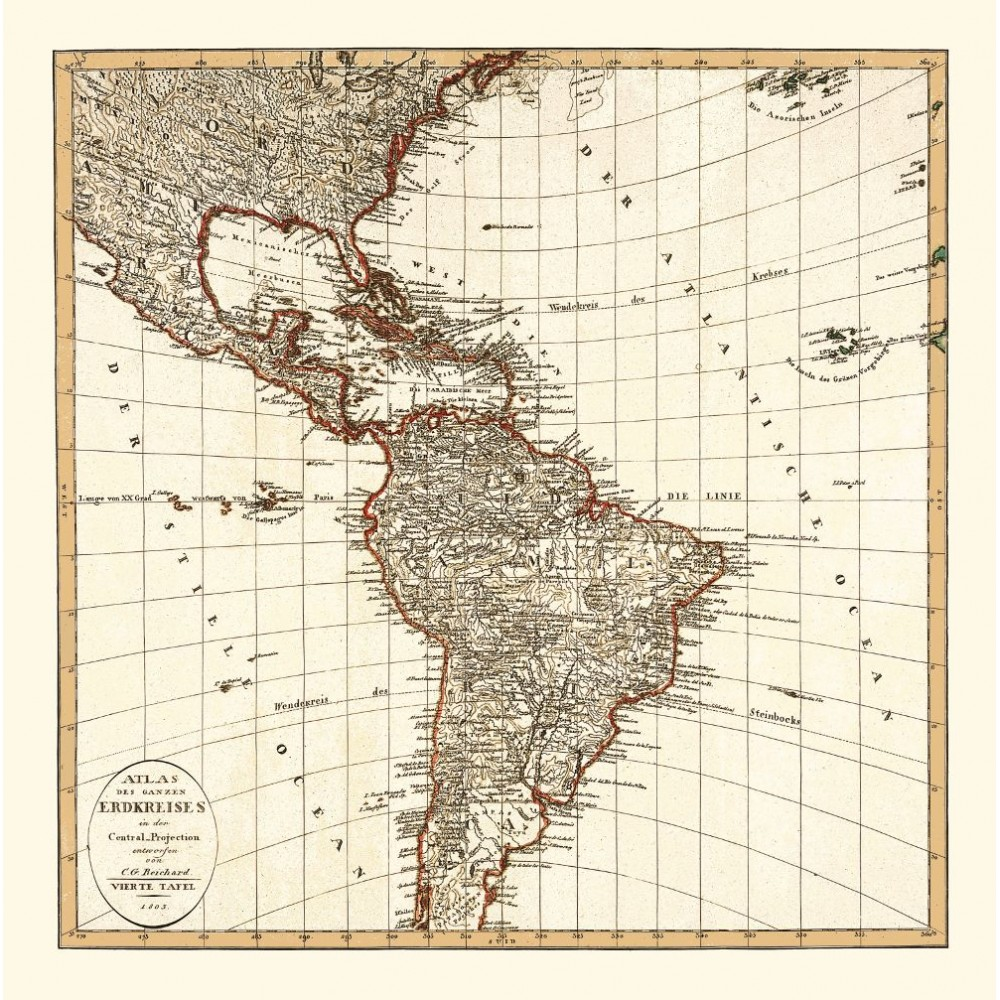 antique-map-america-1803 Map Reproductions on