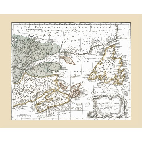 Atlantic Canada Antique Map