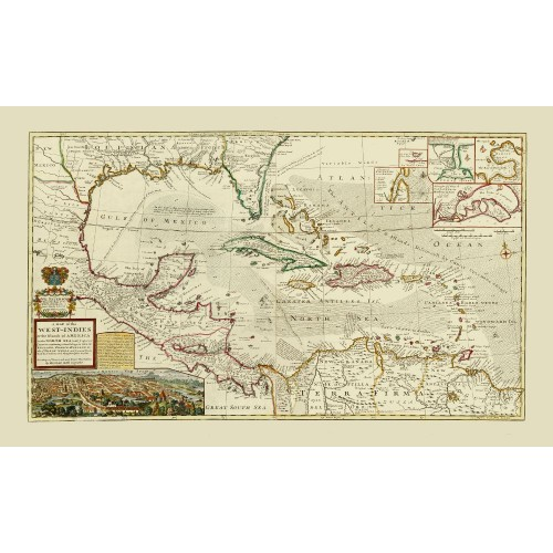Antique Map Reproduction: Central America and the Caribbean